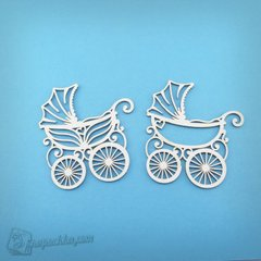 "Chipboard Set of ""Strollers"" (large size), Cardboard light 1.6 mm"