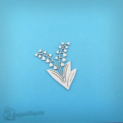 Chipboard Spring bluebells, Cardboard light 1.6 mm