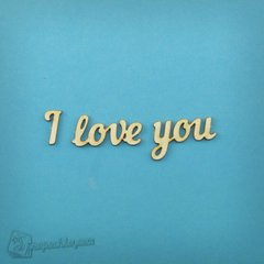 Chipboard lettering I love you in eng., Cardboard light 1.6 mm