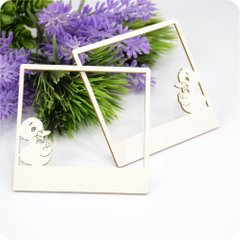 Chipboard Photo Frame Duckling, Cardboard light 1.6 mm
