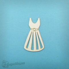 Chipboard Women's dress, Cardboard light 1.6 mm