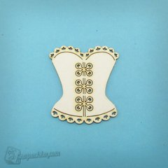 Chipboard Corset, Cardboard light 1.6 mm