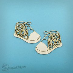 Chipboard Fishnet booties, Cardboard light 1.6 mm