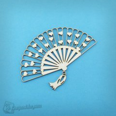 Chipboard Fishnet fan, Cardboard light 1.6 mm