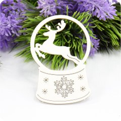 Chipboard Snow globe, Cardboard light 1.6 mm