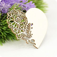 Chipboard Heart openwork, Cardboard light 1.6 mm