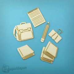 Chipboard Set School, Cardboard light 1.6 mm