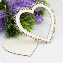 Chipboard Frame Heart, Cardboard light 1.6 mm