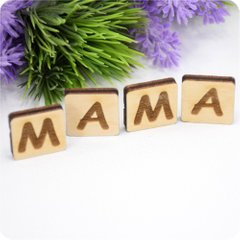 MAMA lettering from plywood, Plywood 4 mm.