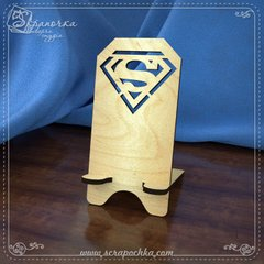 Stand for smartphone Superman, Plywood 4 mm.