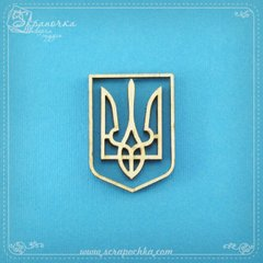 Emblem of Ukraine, Plywood 4 mm.