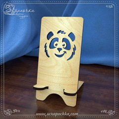 Stand for smartphone Panda, Plywood 4 mm.