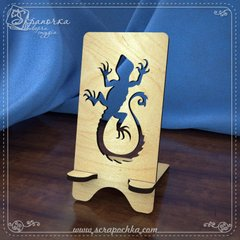 Smartphone Stand Lizard, Plywood 4 mm.