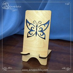 Stand for smartphone Butterfly, Plywood 4 mm.