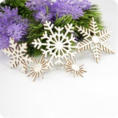 "Chipboard Set Of ""Snowflakes"", Cardboard light 1.6 mm"