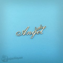 Chipboard lettering Little angel in eng.