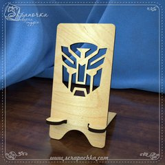 Stand for Transformers smartphone, Plywood 4 mm.