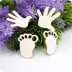 Chipboard hands and feet Prints of, Cardboard light 1.6 mm