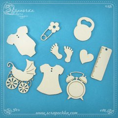 Chipboard Baby kit, Cardboard light 1.6 mm