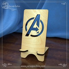 Smartphone Stand Avengers, Plywood 4 mm.
