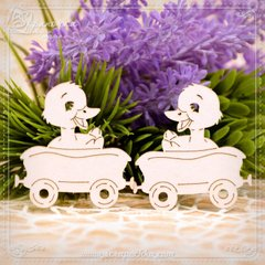 Chipboard carriage set Duckling, Cardboard light 1.6 mm
