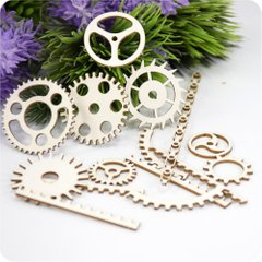 Chipboard Set Of Gears, Cardboard light 1.6 mm